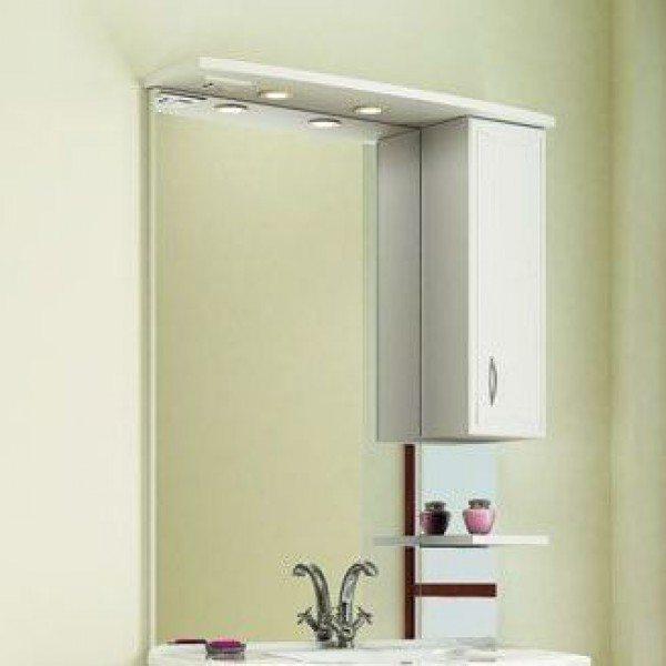 Зеркало для ванной комнаты ORIO Стиль 85 (цвет белый)