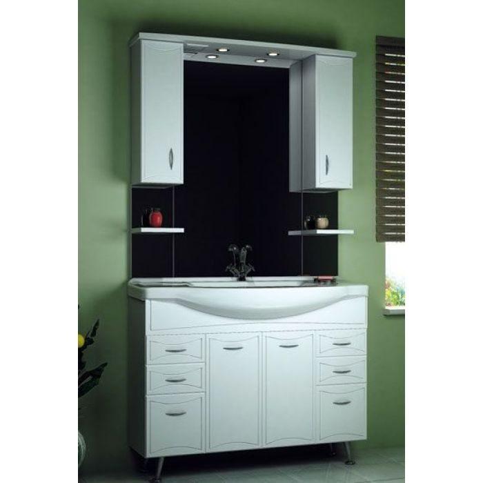 Комплект мебели для ванной ORIO Стиль 105 (цвет белый)
