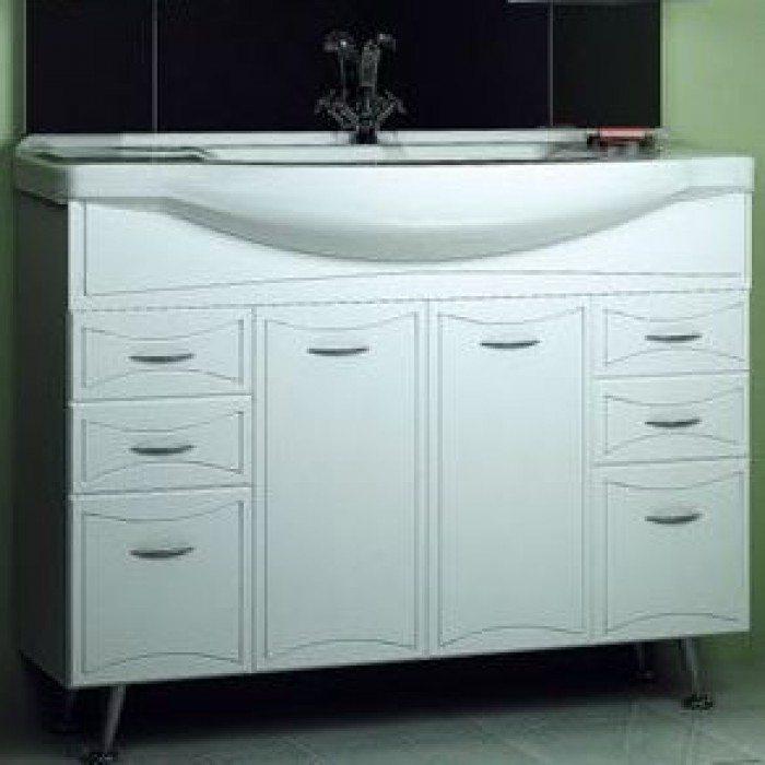 Тумба с раковиной для ванной комнаты ORIO Стиль 105 (цвет белый)