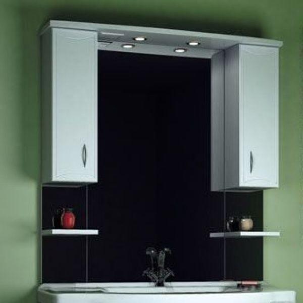 Зеркало для ванной комнаты ORIO Стиль 105 (цвет белый)