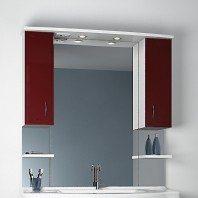 Зеркало ORIO Стиль 105 (цвет бордовый/белый)