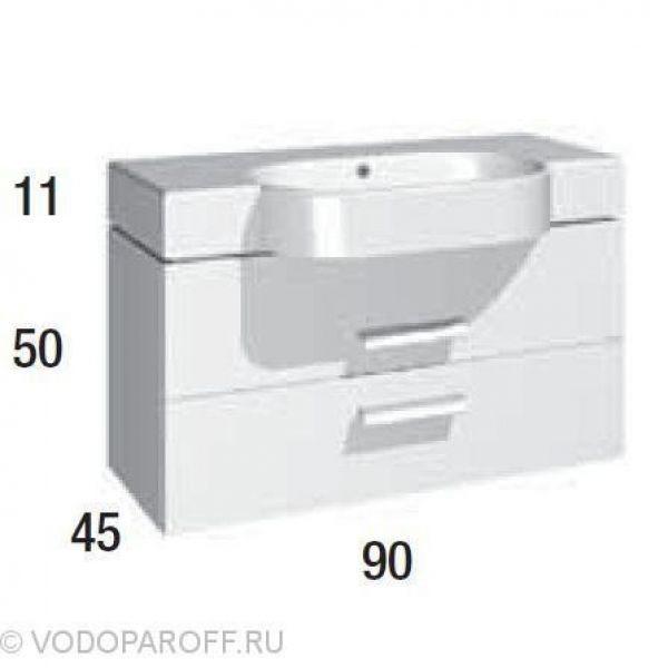Комплект мебели для ванной Berloni Bagno WALL WL BS12T+SS0900A+ WL CB01+XP15