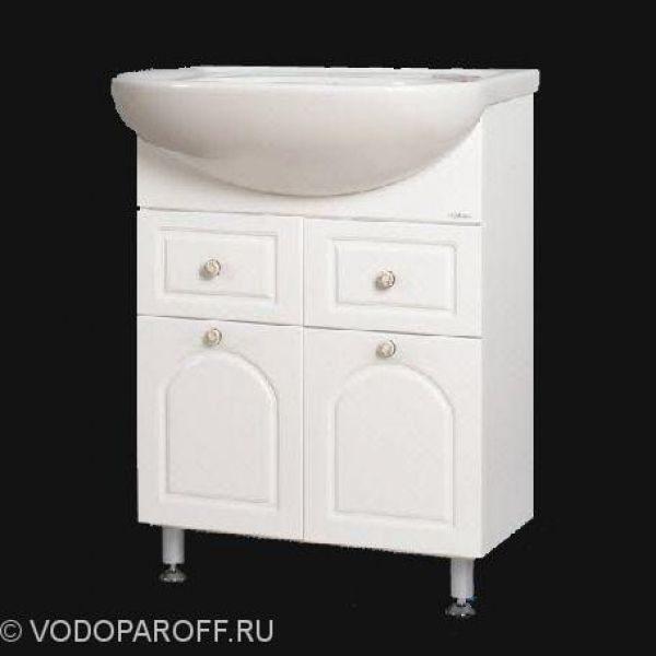 Тумба с раковиной для ванной Венге 60 (цвет белый)