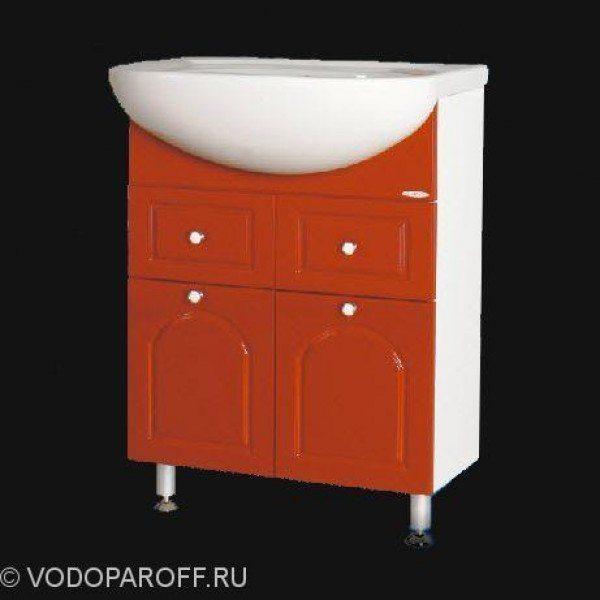 Тумба с раковиной для ванной SANMARIA Венге 60 (цвет красный)