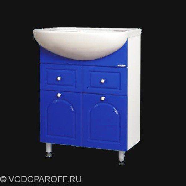 Тумба с раковиной для ванной SANMARIA Венге 60 (цвет синий)