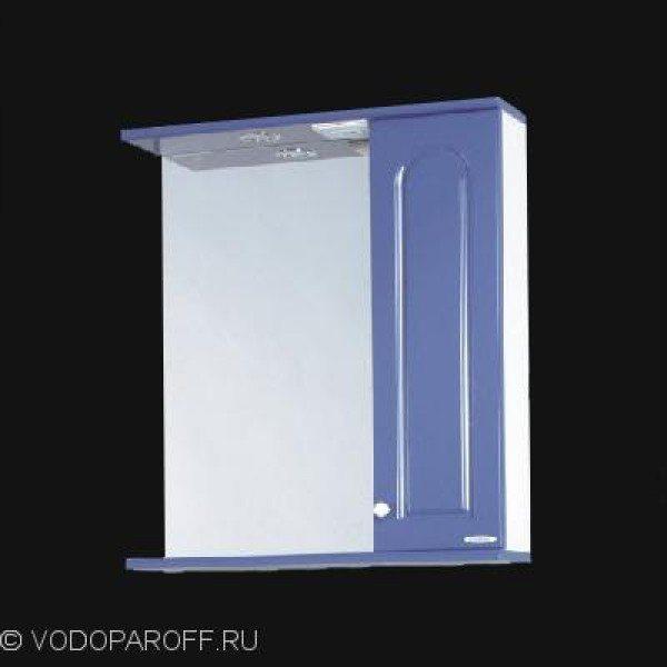 Зеркало для ванной SANMARIA Венге 60 (голубой металлик)