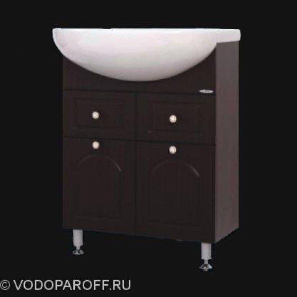 Тумба с раковиной для ванной SANMARIA Венге 60 (цвет венге)