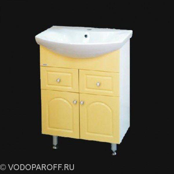 Тумба с раковиной для ванной SANMARIA Венге 65 (цвет ваниль)