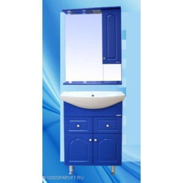 Комплект мебели для ванной SANMARIA Венге 65 (цвет голубой металлик)