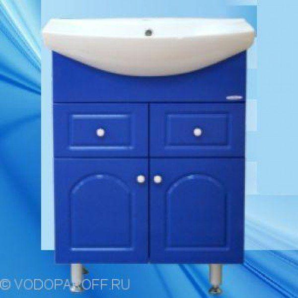 Тумба с раковиной для ванной SANMARIA Венге 65 (цвет голубой металлик)