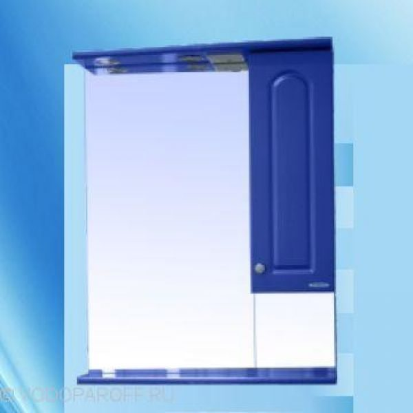 Зеркало для ванной SANMARIA Венге Венге 65 (цвет голубой металлик)