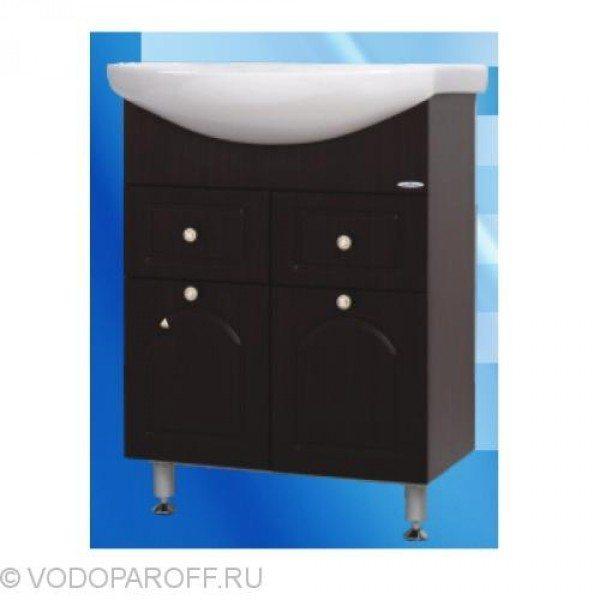 Тумба с раковиной для ванной SANMARIA Венге 65 (цвет венге)