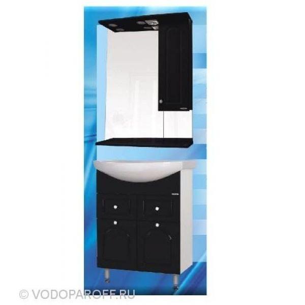 Комплект мебели для ванной SANMARIA Венге 65 (цвет черный)