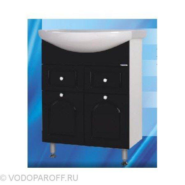 Тумба с раковиной для ванной SANMARIA Венге 65 (цвет черный)