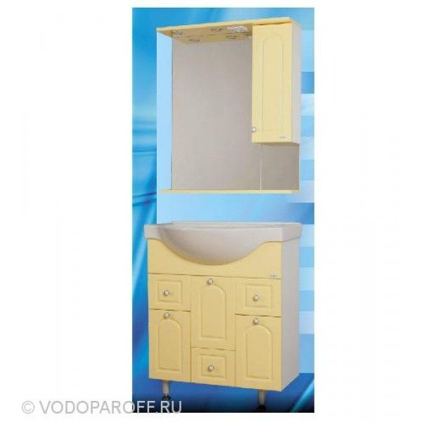Комплект мебели для ванной SANMARIA Венге 70 (цвет ваниль)