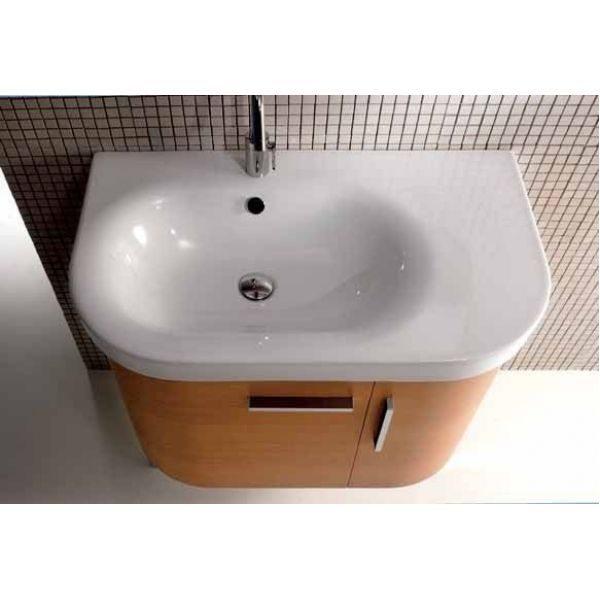 Комплект мебели для ванной комнаты Berloni Bagno DAY BS03+SN07 (отделка шпон, цвет 413 ciliegio-вишня)