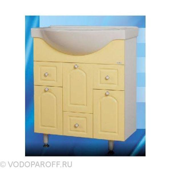 Тумба с раковиной для ванной SANMARIA Венге 70 (цвет ваниль)