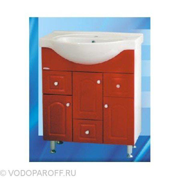 Тумба с раковиной для ванной SANMARIA Венге 70 (цвет красный)