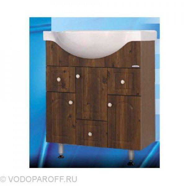 Тумба с раковиной для ванной SANMARIA Венге 70 (цвет светлый орех)