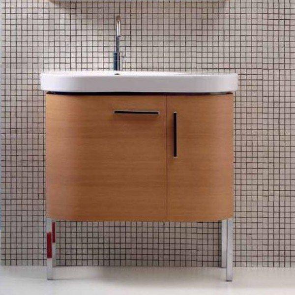 Тумба для ванной Berloni Bagno DAY BS03 (отделка шпон, цвет 413 ciliegio-вишня)