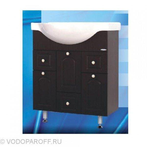 Тумба с раковиной для ванной SANMARIA Венге 70 (цвет венге)