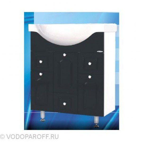 Тумба с раковиной для ванной SANMARIA Венге 70 (цвет черный)