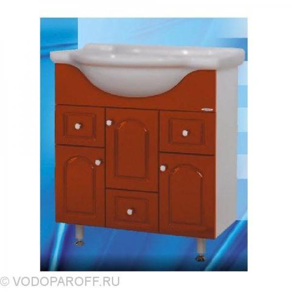 Тумба с раковиной для ванной SANMARIA Венге 75 (цвет красный)