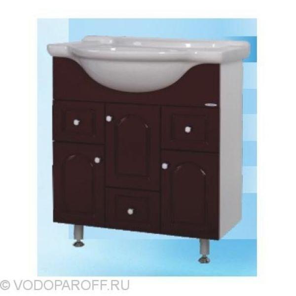 Тумба с раковиной для ванной SANMARIA Венге 75 (цвет вишня)