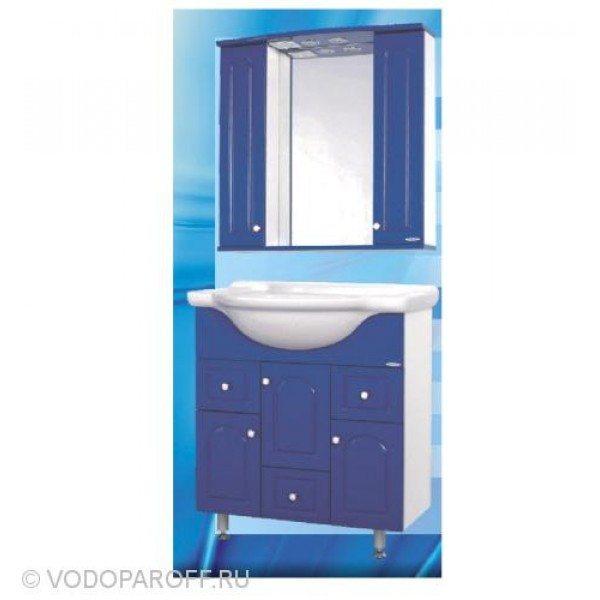 Комплект мебели для ванной SANMARIA Венге 75 (цвет синий)