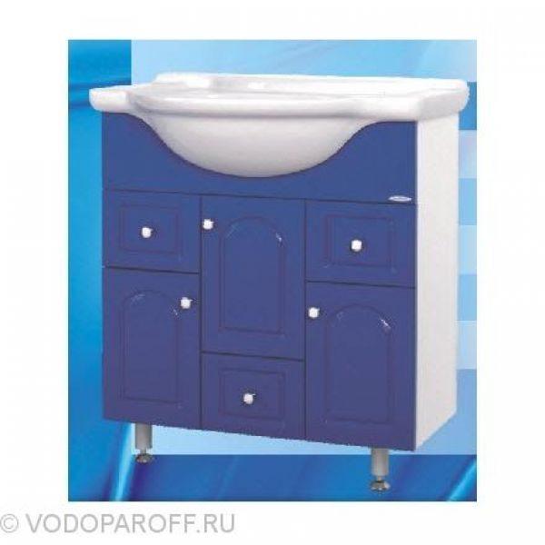 Тумба с раковиной для ванной SANMARIA Венге 75 (цвет синий)