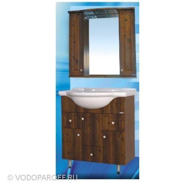 Комплект мебели для ванной SANMARIA Венге 75 (цвет светлый орех)
