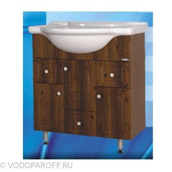 Тумба с раковиной для ванной SANMARIA Венге 75 (цвет светлый орех)