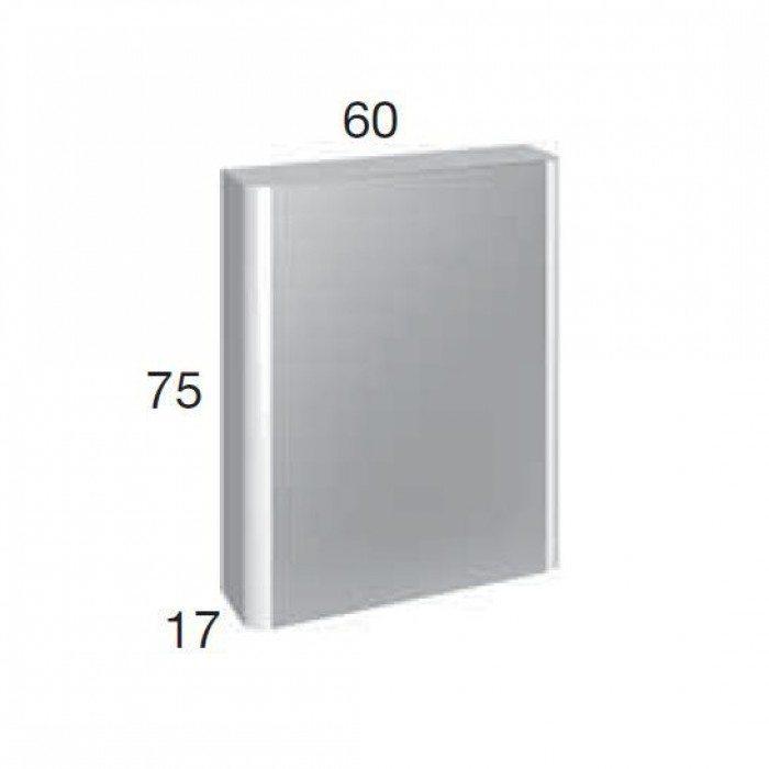 Подвесной шкаф для ванной с зеркальной створкой Berloni Bagno DAY SN06 (отделка шпон)