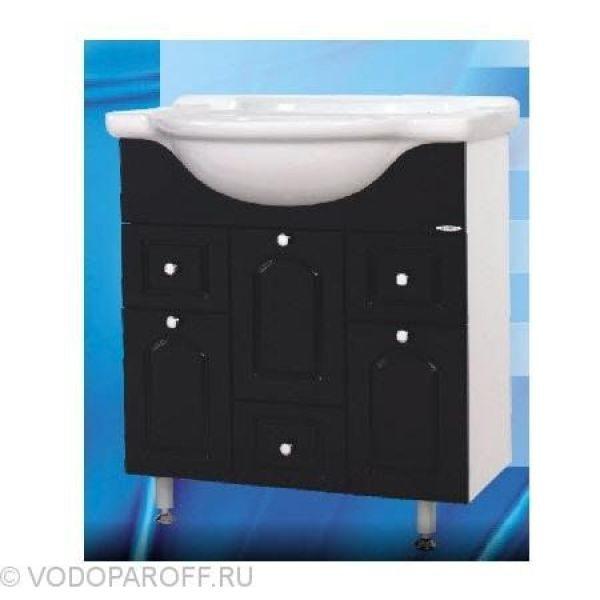Тумба с раковиной для ванной SANMARIA Венге 75 (цвет черный)
