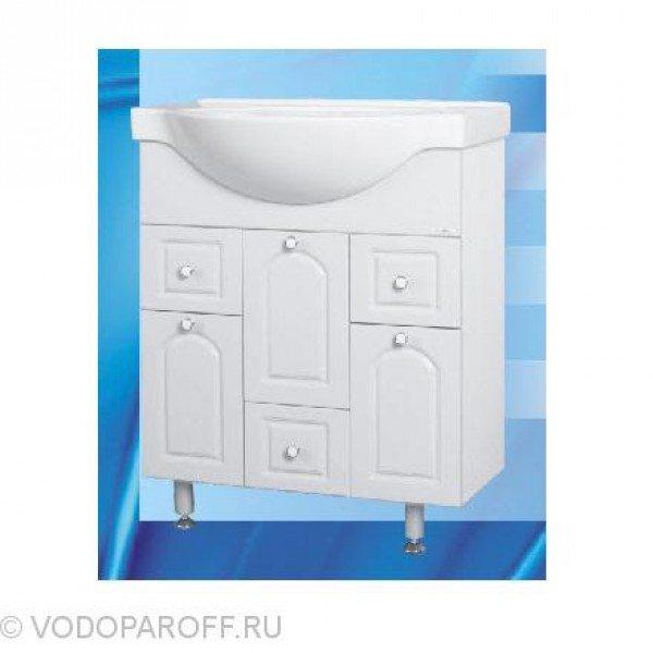 Тумба с раковиной для ванной SANMARIA Венге 80 (цвет белый)