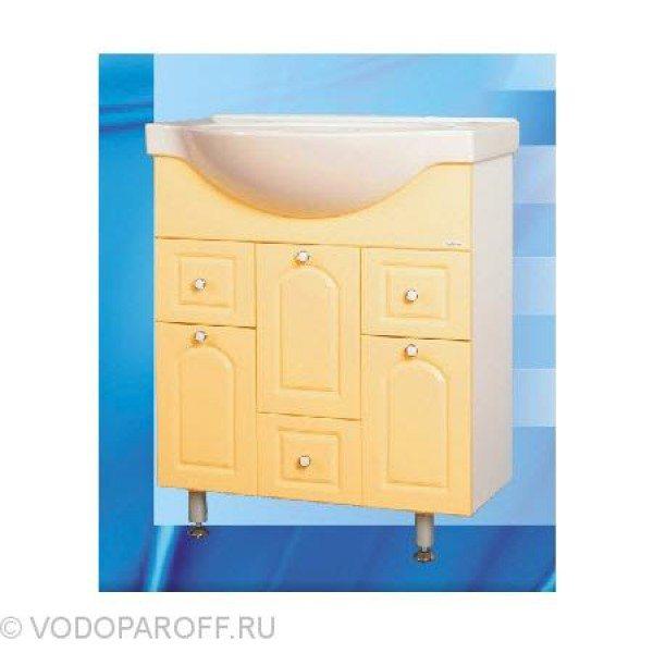 Тумба с раковиной для ванной SANMARIA Венге 80 (цвет ваниль)