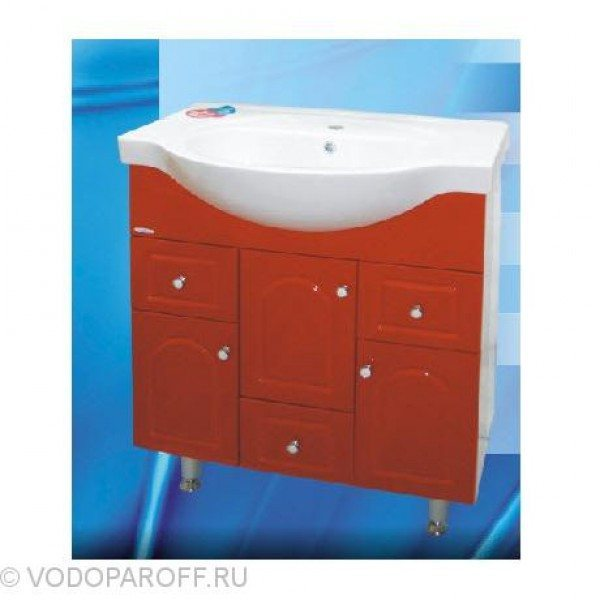 Тумба с раковиной для ванной SANMARIA Венге 80 (цвет красный)