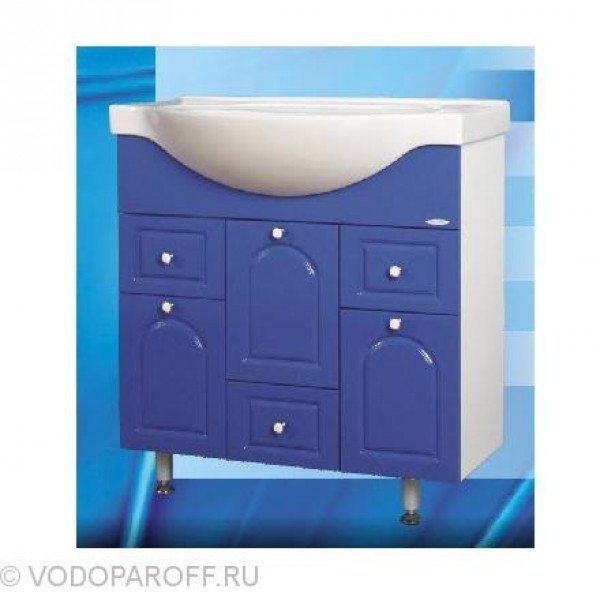 Тумба с раковиной для ванной SANMARIA Венге 80 (цвет синий)