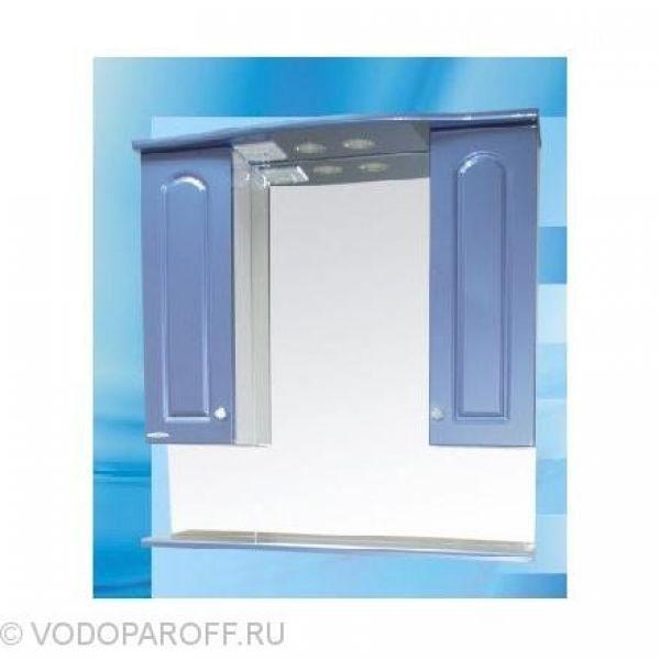 Зеркало для ванной SANMARIA Венге 80 (цвет голубой металлик)