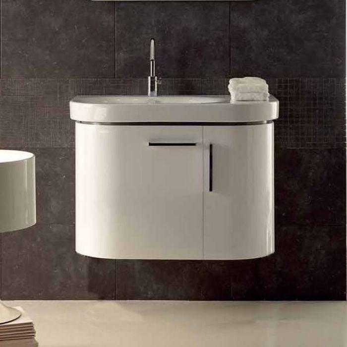 Тумба для ванной Berloni Bagno DAY BS03 (отделка лак глянец, цвет 881 grigio chiaro-серый светлый)