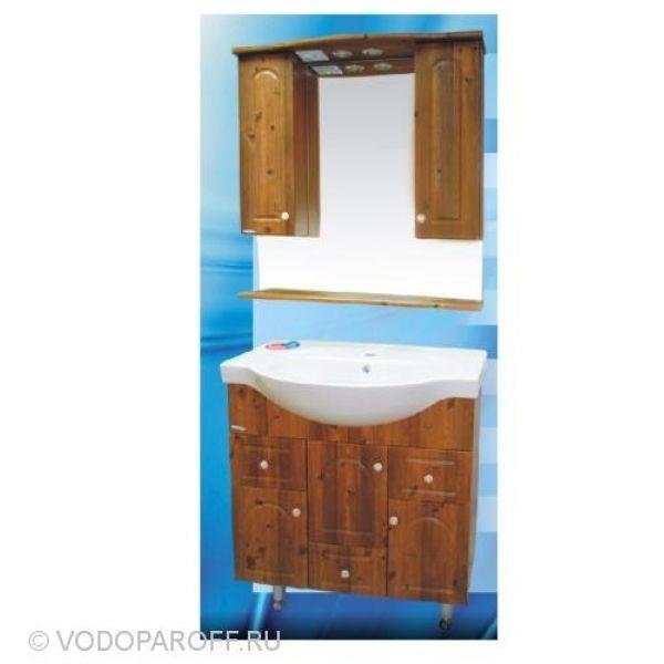 Комплект мебели для ванной SANMARIA Венге 80 (цвет светлый орех)
