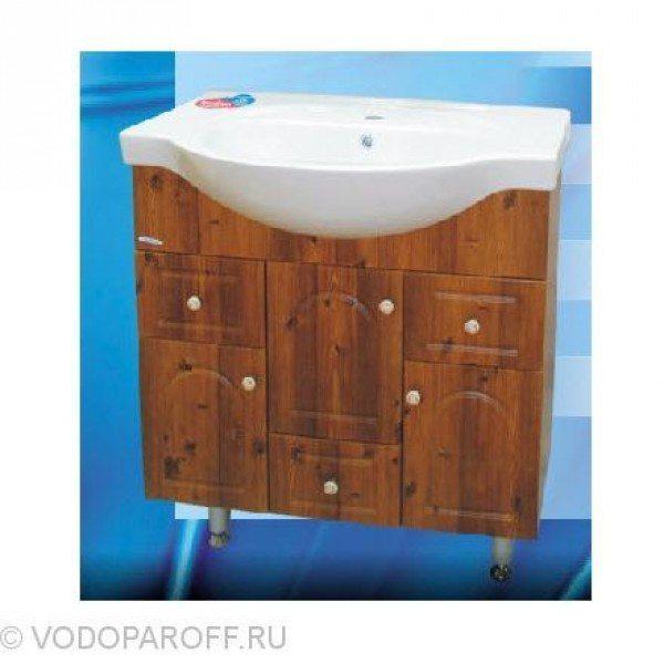 Тумба с раковиной для ванной SANMARIA Венге 80 (цвет светлый орех)