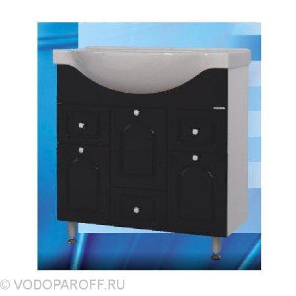 Тумба с раковиной для ванной SANMARIA Венге 80 (цвет черный)
