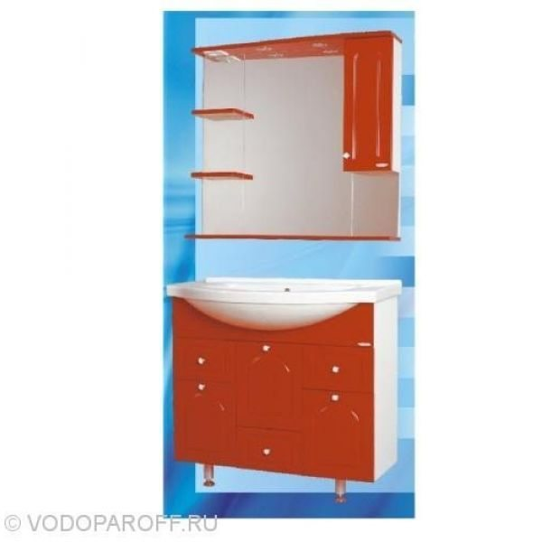 Комплект мебели для ванной SANMARIA Венге 90 (цвет красный)