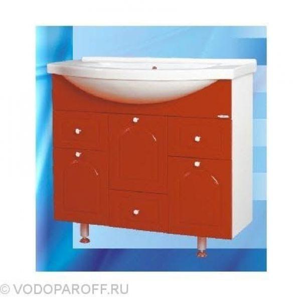 Тумба с раковиной для ванной SANMARIA Венге 90 (цвет красный)