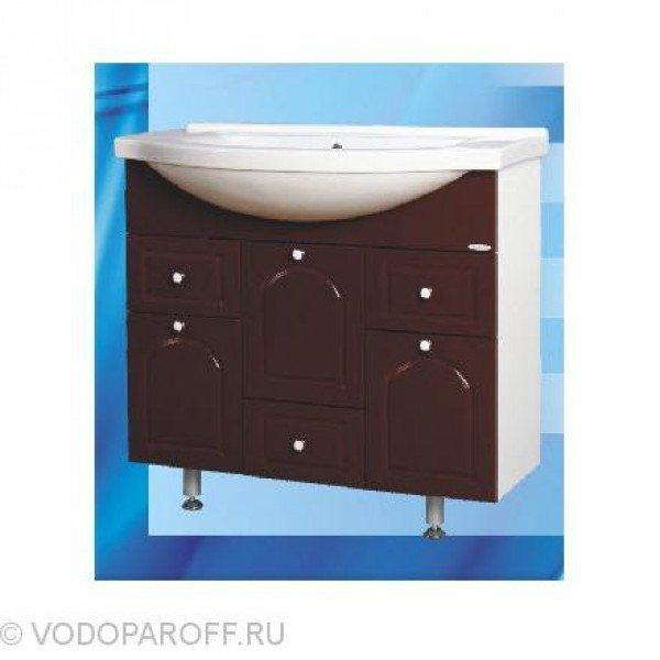 Тумба с раковиной для ванной SANMARIA Венге 90 (цвет вишня)