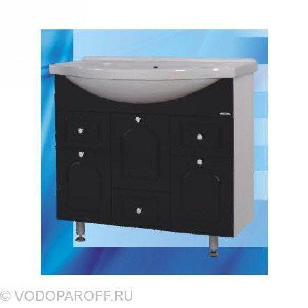 Тумба с раковиной для ванной SANMARIA Венге 90 (цвет черный)
