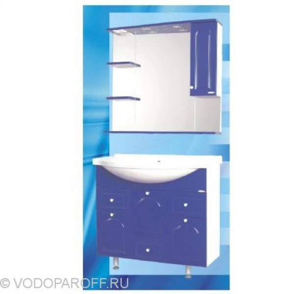Комплект мебели для ванной SANMARIA Венге 90 (цвет синий)