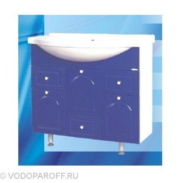 Тумба с раковиной для ванной SANMARIA Венге 90 (цвет синий)