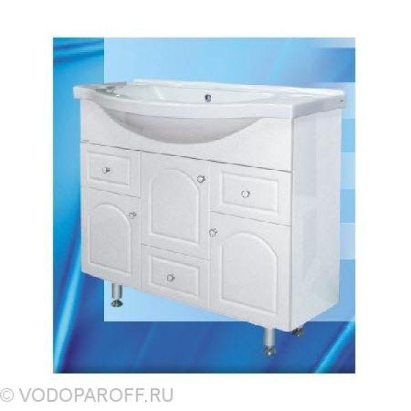 Тумба с раковиной для ванной SANMARIA Венге 100 (цвет белый)